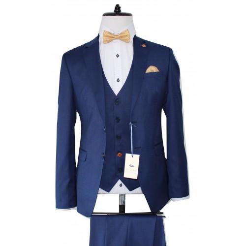8996e9338952 D-Zine Mens Blue S-1903 Κουστούμι -20%