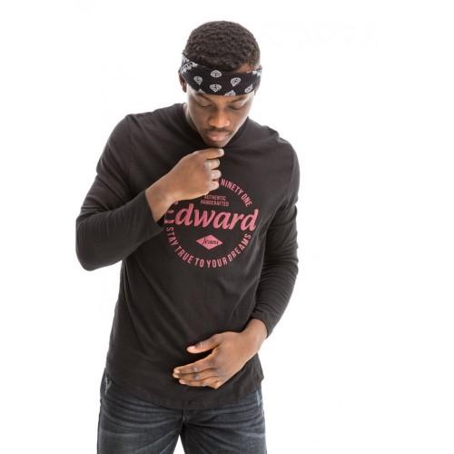 Edward Jeans 18.1.1.01.103 JAQEN T-SHIRT Black