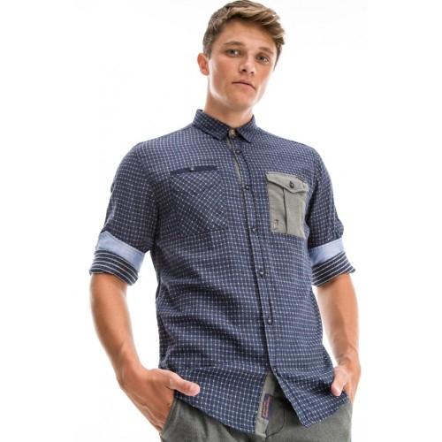 Edward Jeans 18.1.1.03.036 DARIEL-027 SHIRT Blue