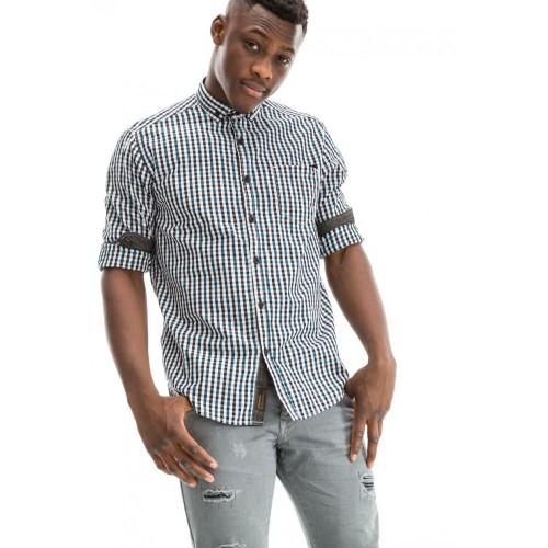 Edward Jeans 18.1.1.03.046 VENIR-R1 SHIRT White-Black