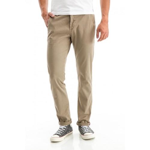 Edward Jeans 18.1.1.04.042 GEMINI-PO PANTS REGULAR FIT/SLIM LEGS Beige