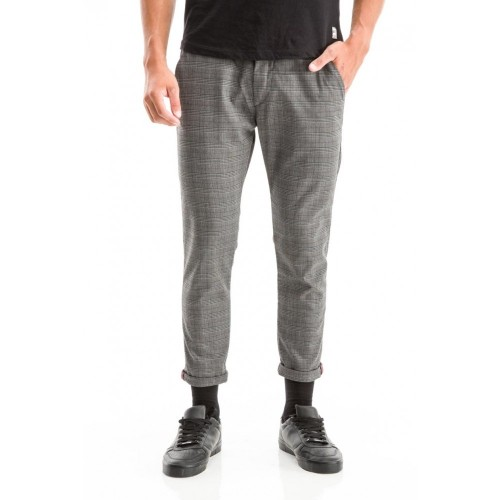 Edward Jeans 18.1.1.04.043 PATRICIO-956 PANTS CARROT FIT/SLIM LEGS CROPPED Grey