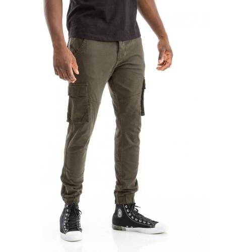 Edward Jeans 18.1.1.04.044 BENTON-G PANTS CARROT FIT/SLIM LEGS Khaki