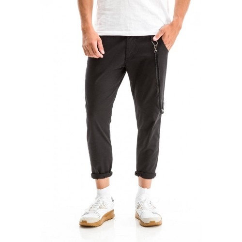 Edward Jeans 18.1.1.04.047 LEPUS-SH PANTS CARROT FIT/SLIM LEGS CROPPED Black