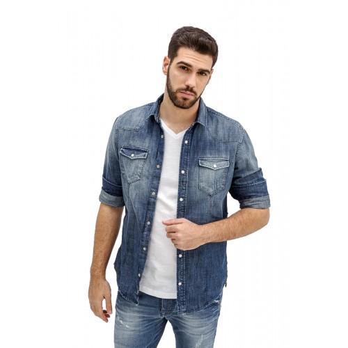 97954373b028 Edward Jeans 19.1.1.83.003 FLESSO-WH DENIM SHIRT