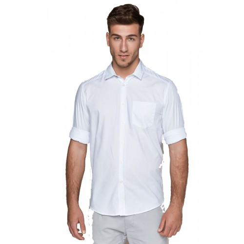 Edward Jeans ATHLOS-CIN SHIRT MP-N-SRT-S20-007-WHITE