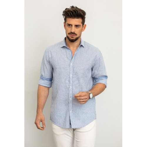 Edward Jeans LOKIE-SM SHIRT MP-N-SRT-S20-013-FADED DENIM