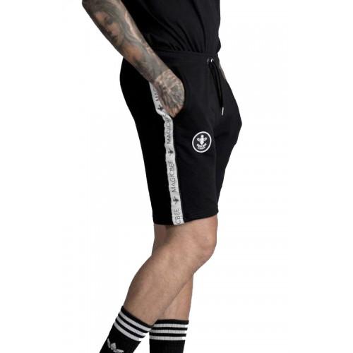 Mens Magic Bee Clothing MG-309 Black Tape Shorts
