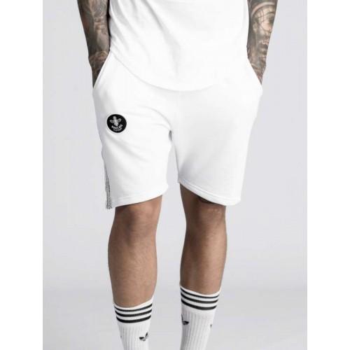 Mens Magic Bee Clothing MG-309 White Tape Shorts