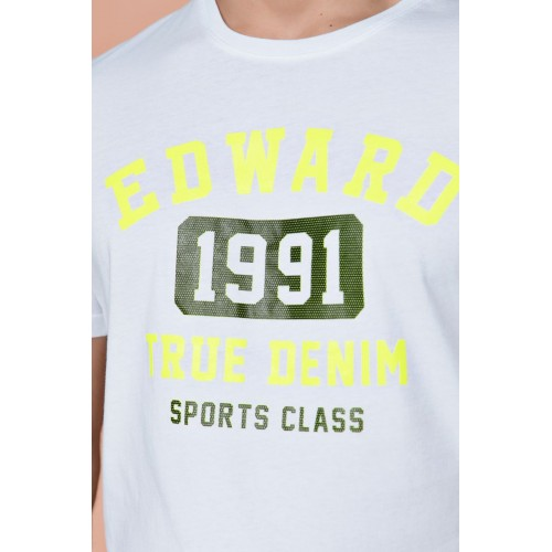 Edward Jeans TOWY TSHIRT MP-N-TOP-S20-019-WHITE