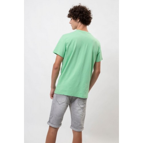 Edward Jeans EMBOS TSHIRT MP-N-TOP-S20-013-GREEN