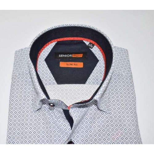 Senior Mens White Shirt F-002