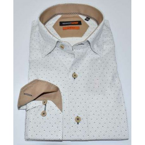 Senior Mens White Shirt F-003