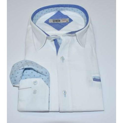 Senior Mens White Shirt F-004