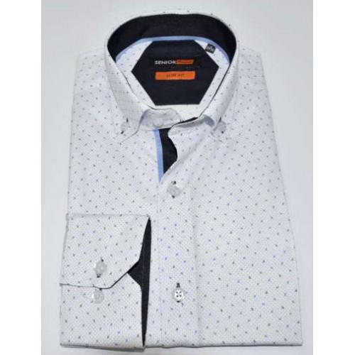 Senior Mens White Shirt F-006