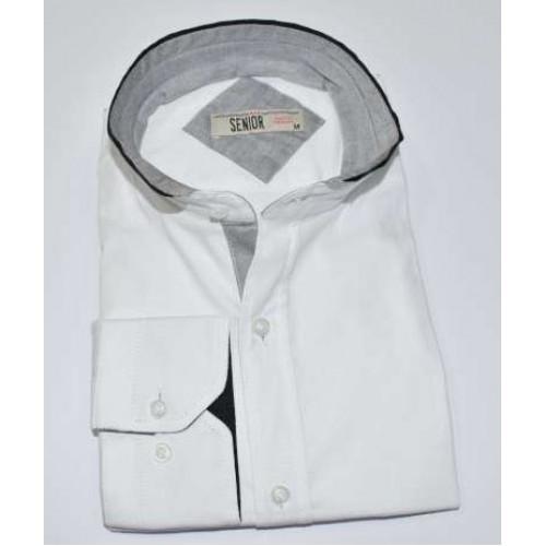 Senior Mens White Shirt F-007