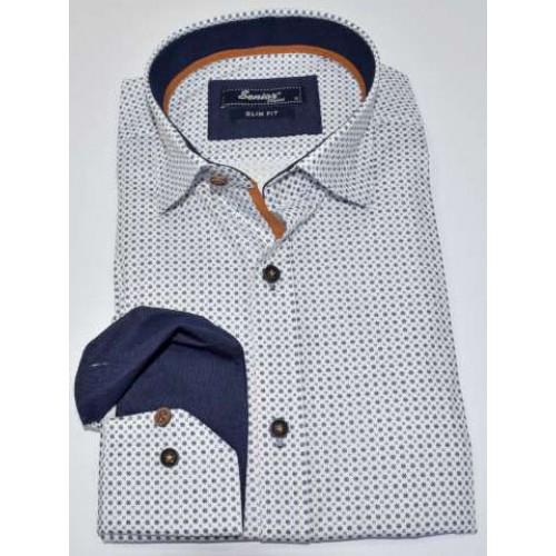 Senior Mens White Shirt F-008