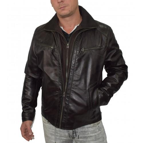 Bersaglio Brayan Leather Jacket BL-10111-02 Dark Brown