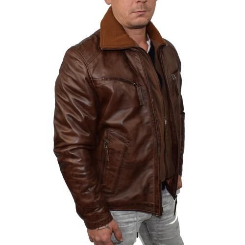 Bersaglio Brayan Leather Jacket BL-10111-18 Cognac