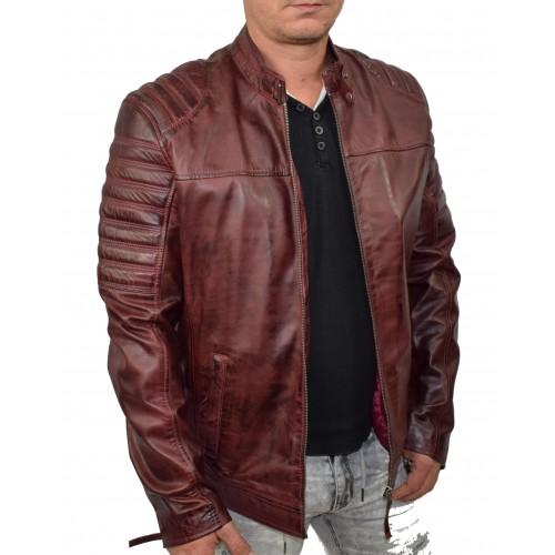 Bersaglio Adams Leather Jacket BL-30111-17 Bordeaux