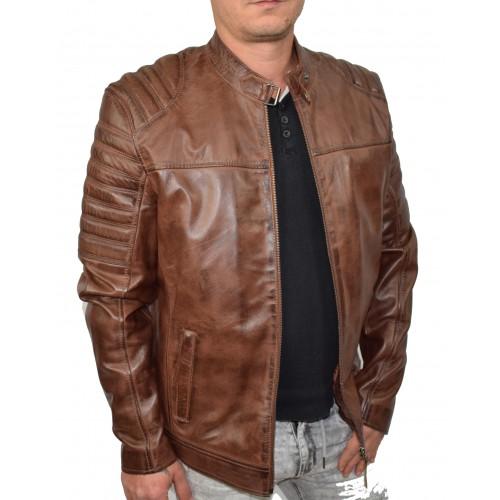 Bersaglio Adams Leather Jacket BL-30111-18 Cognac
