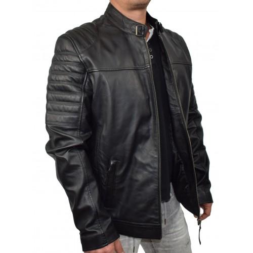 Bersaglio Adams Leather Jacket BL-30111-01 Black