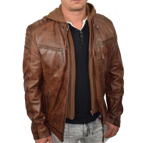 Bersaglio Johny Leather Jacket BL-40111-18 Cognac