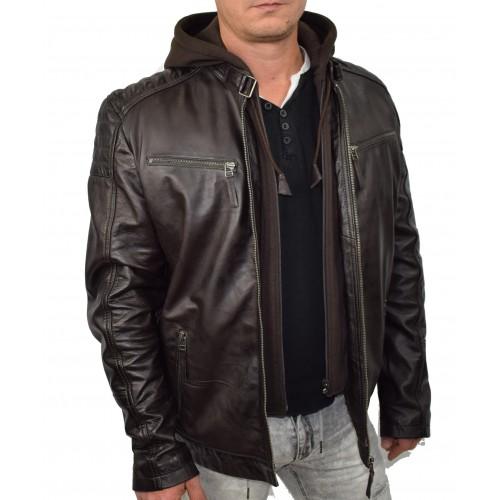 Bersaglio Johny Leather Jacket BL-40111-02 Dark Brown