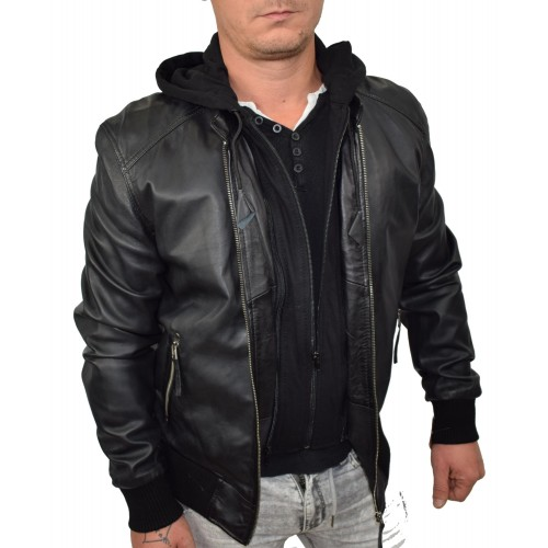Bersaglio Timmy Leather Jacket BL-50111-01 Black